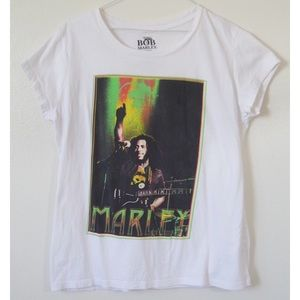 BOB MARLEY BAND SCOOP NECK TEE